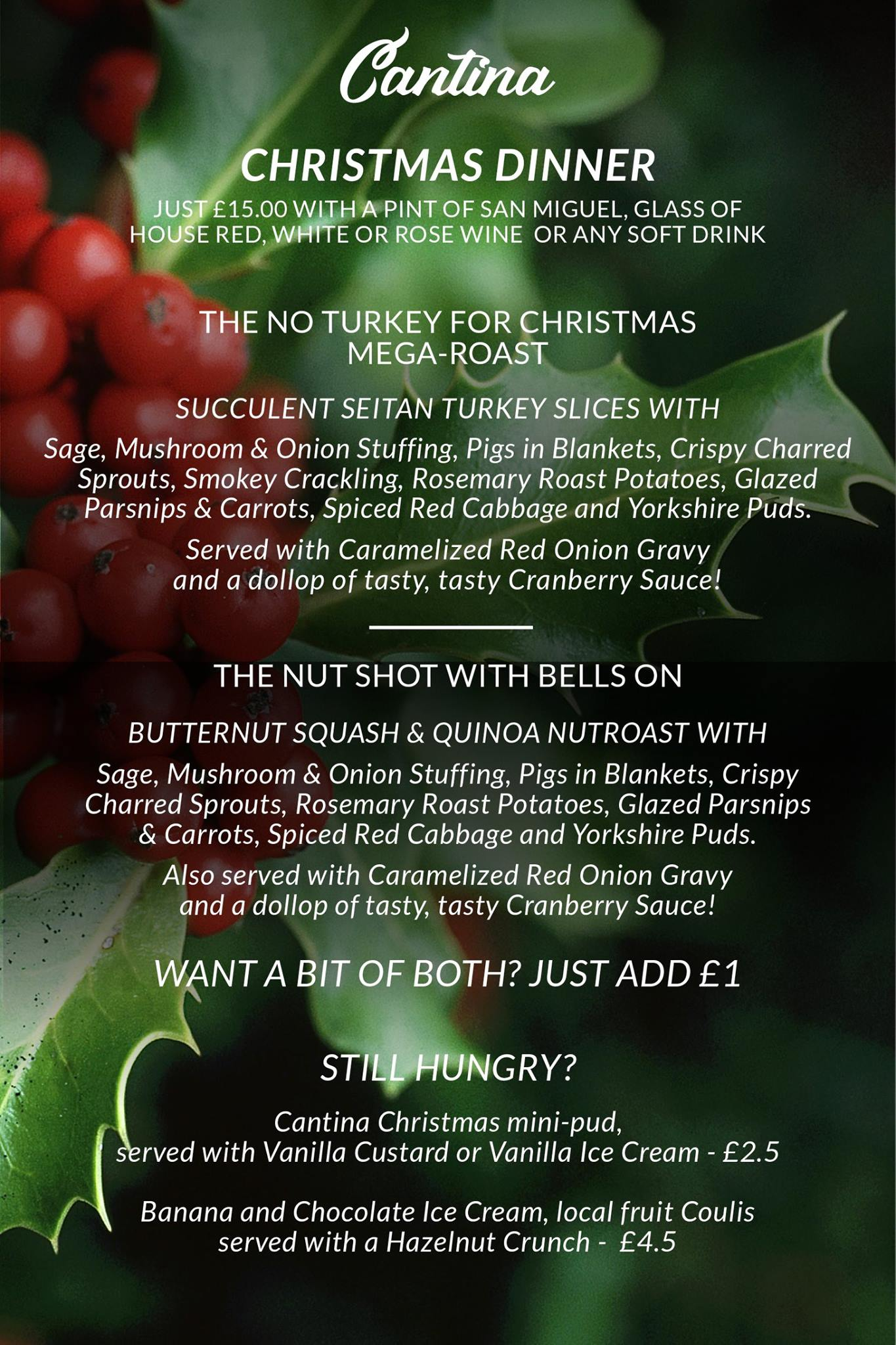Turkeys Are For Life, Not Just For Christmas – Cantina's All Vegan Christmas Dinner Sell-Out