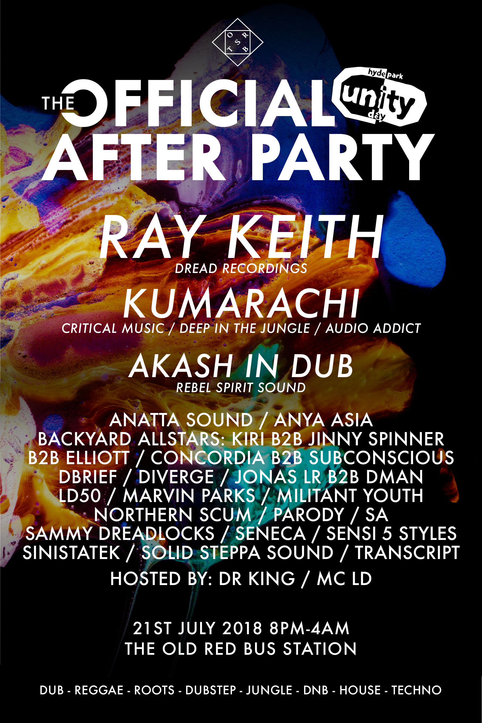 Lineup Unity day afterparty