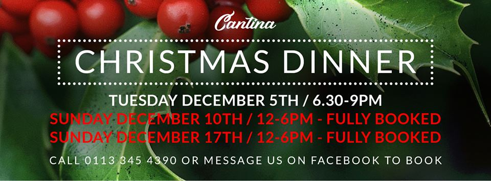 Christmas Dinner Sold Out Banner